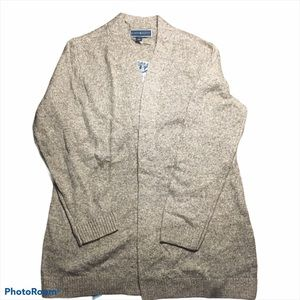 Karen Scott Knit Cotton Brown Ombre Cardigan
